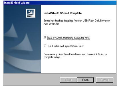 Imagen de cuadro de diálogo del Asistente InstallShield finalizado