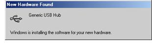 Imagen de cuadro de diálogo Nuevo hardware encontrado